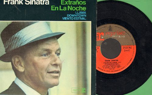 Sinatra, Frank - Strangers In The Night/Downtown/Summer Wind/Call Me (vinyl EP record with picture cover, Spanish Pressing) - NM9/NM9 - 45 rpm Records