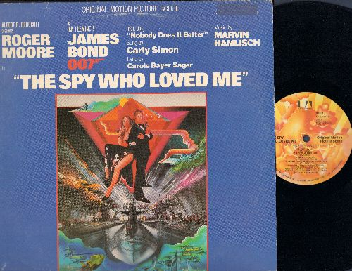 The Spy Who Loved Me - The Spy Who Loved Me - Original Motion Picture Score, Music by Marvin Hamlisch, includes Hit -Nobody Does It Better- by Carly Simon (Vinyl LP record) - EX8/VG7 - LP Records