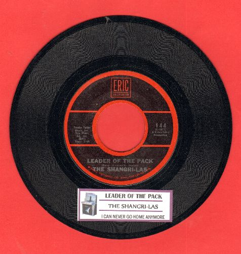 Shangri-Las - Leader Of The Pack/I Can Never Go Home Anymore (early double-hit re-issue) - NM9/ - 45 rpm Records