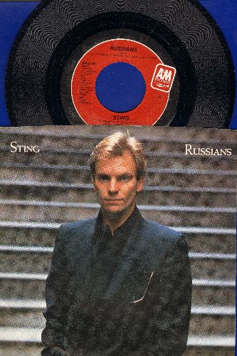Sting - Russians/Gabriel's Message (with picture sleeve) - NM9/EX8 - 45 rpm Records