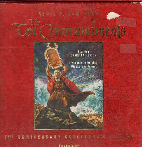 Ten Commandments - Ten Commandments Box 3 LASERDISC Box Set of 1956 Film - NM9/VG7 - LaserDiscs