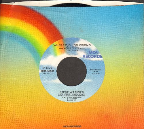 Wariner, Steve - Where Did I Go Wrong/Piano Texas Girl (wth MCA company sleeve) - NM9/ - 45 rpm Records