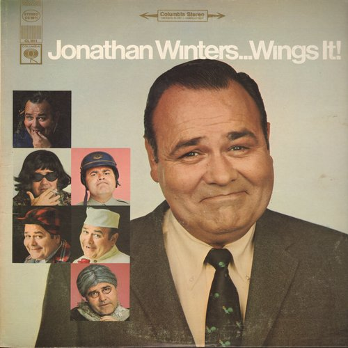 Winters, Jonathan - Jonathan Winters…Wings It!: Hilarious comedy routines featuring some of Jonathan Winters' most outrageous characters! (Vinyl STEREO LP record) - NM9/EX8 - LP Records