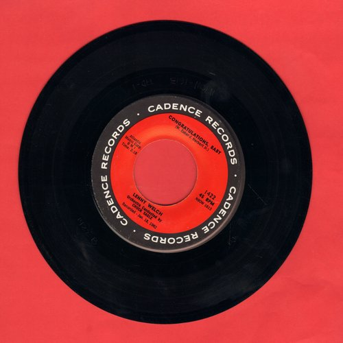 Welch, Lenny - Congratulations, Baby/Ebb Tide  - NM9/ - 45 rpm Records