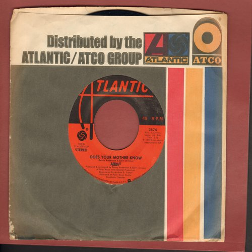 ABBA - Does Your Mother Know/Kisses Of Fire (with Atlantic company sleeve) - VG7/ - 45 rpm Records