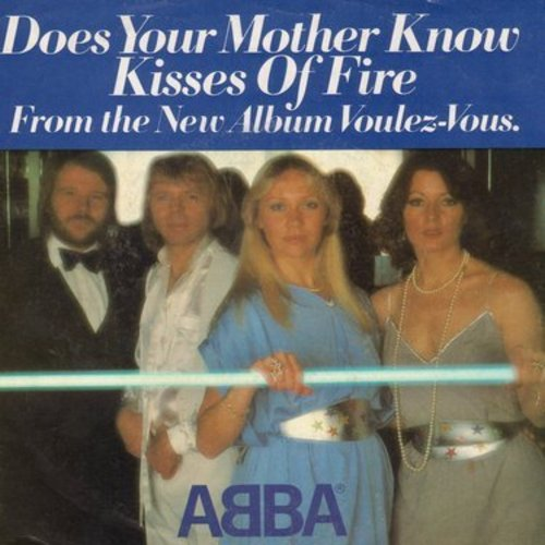 ABBA - Does Your Mother Know/Kisses Of Fire (with picture sleeve) - NM9/VG7 - 45 rpm Records