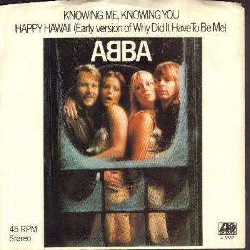 ABBA - Knowing Me, Knowing You/Happy Hawaii (with picture sleeve) - VG7/VG7 - 45 rpm Records