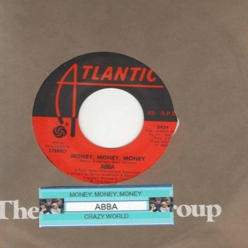 ABBA - Money, Money, Money/Crazy World (with juke box label and Atlantic company sleeve) - NM9/ - 45 rpm Records