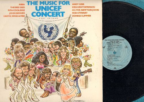 ABBA, Bee Gees, John Denver, others - The Music For UNICEF Concert - A Gift Of Song: Chiquitita, Too Much Heaven, Mimi's Song (vinyl LP record, 1979 Special Release) - NM9/EX8 - LP Records