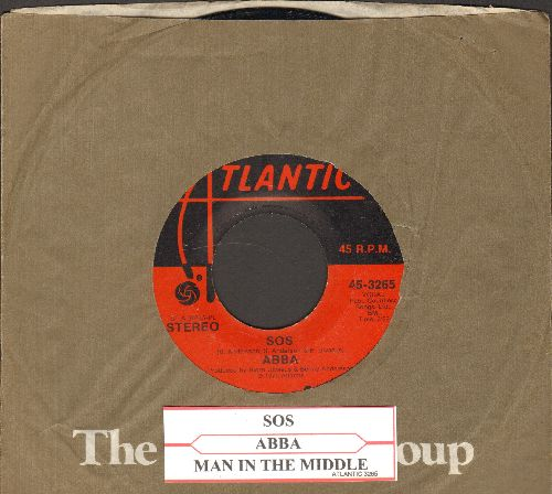 ABBA - SOS/Man In The Middle (with Atlantic company sleeve and juke box label) - VG7/ - 45 rpm Records