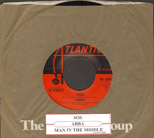 ABBA - SOS/Man In The Middle (with juke box label and Atlantic company sleeve) - EX8/ - 45 rpm Records