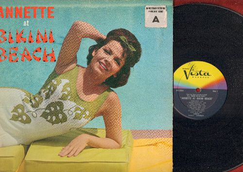 Annette - Annette At Bikini Beach: The Jamaica Ska, Let's Twist Again, The Wah Watusi, The Monkey's Uncle (vinyl MONO LP record, gate-fold cover) - EX8/VG7 - LP Records