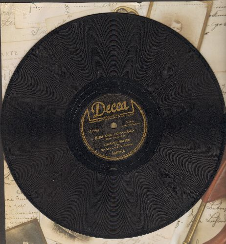 Andrews Sisters - Rum And Coca-Cola/One Meat Ball (10 inch 78 rpm record) - VG6/ - 78 rpm