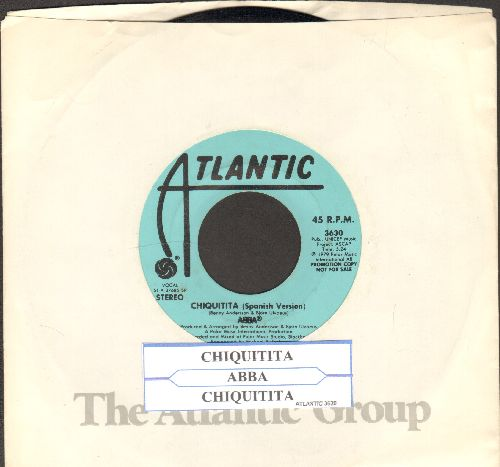 ABBA - Chiquitita (EXTREMELY RARE Spanish Version! - Double-A-sided DJ advance copy) - EX8/ - 45 rpm Records