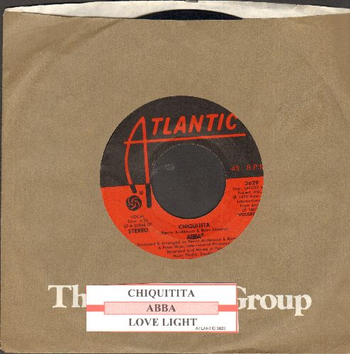 ABBA - Chiquitita/Lovelight (1979 UNICEF Theme - 100% of original proceeds was donated to the World Children's Organization by ABBA!) (with juke box label and company sleeve) - ex8/ - 45 rpm Records