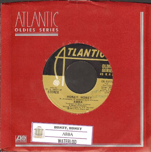 ABBA - Honey, Honey/Waterloo (double-hit re-issue with juke box label and Atlantic company sleeve) - EX8/ - 45 rpm Records