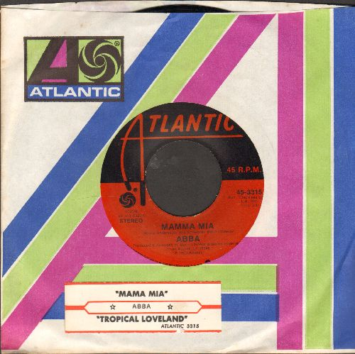 ABBA - Mamma Mia/Tropical Loveland (with juke box label and Atlantic company sleeve) - NM9/ - 45 rpm Records