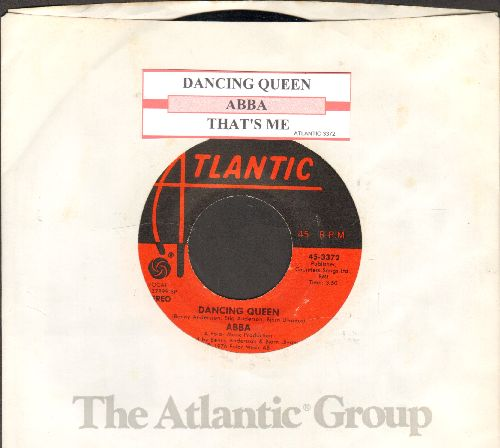 ABBA - Dancing Queen (ABBA's only US #1 Hit)/That's Me (with juke box label and company sleeve) - EX8/ - 45 rpm Records
