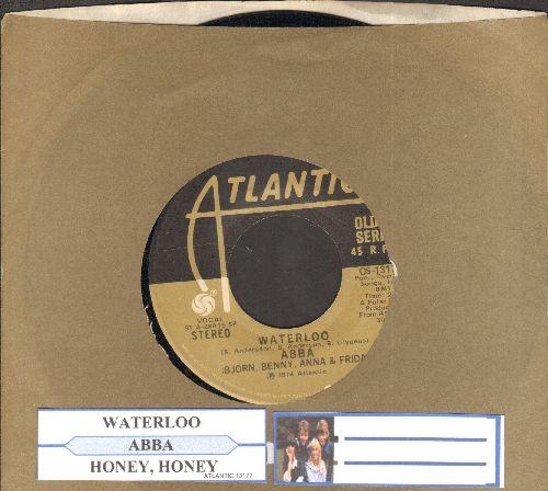 ABBA - Waterloo (WINNER - GRAND PRIX EUROVISION 1974!)/Honey Honey (with juke box label and Atlantic company sleeve) - EX8/ - 45 rpm Records
