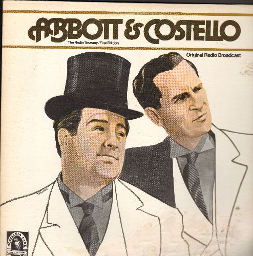 Abbott & Costello - Abbott & Costello - Original Radio Broadcast Recordings on 2 vinyl LP records, gate-fold cover (cover damage at bottom) - NM9/G5 - LP Records