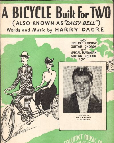 Dacre, Harry - A Bicycle Built For Two (Also Known As -Daisy Bell-) - Vintage 1935 SHEET Music for the Classic Pop Song - EX8/ - Sheet Music