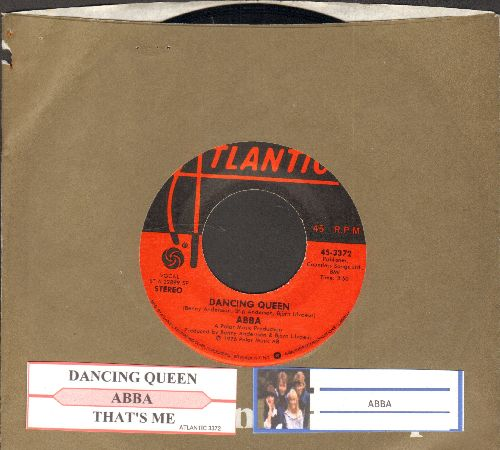ABBA - Dancing Queen/That's Me (with juke box label and company sleeve) - NM9/ - 45 rpm Records
