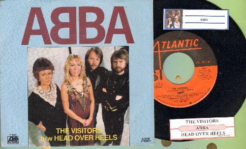 ABBA - The Visitors/Head Over Heels (with juke box label and picture sleeve) - NM9/NM9 - 45 rpm Records