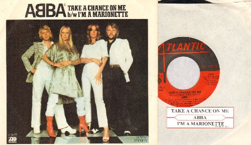 ABBA - Take A Chance On Me/I'm A Marionette (with juke box label and picture sleeve) - EX8/EX8 - 45 rpm Records