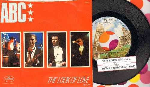 ABC - The Look Of Love (Part 1)/Theme From -Mantrap- (with juke box label and picture sleeve) - NM9/NM9 - 45 rpm Records