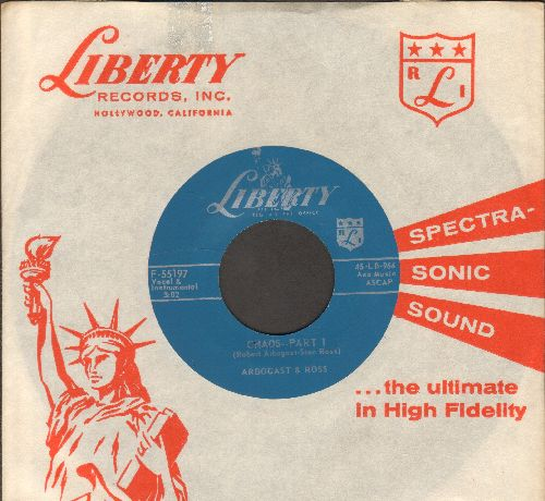 Arbogast & Ross - Chaos - Parts 1 & 2 (RARE cut-in novelty with vintage Liberty company sleeve) - NM9/ - 45 rpm Records