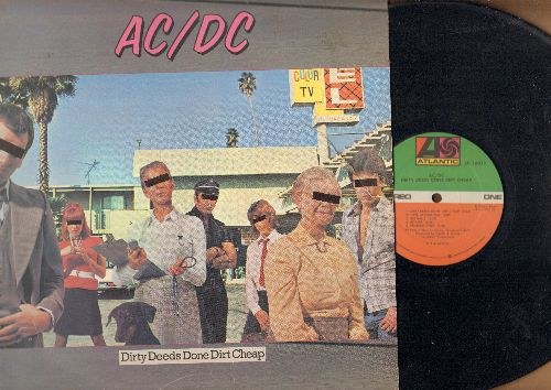 AC/DC - Dirty Deeds Done Dirt Cheap: Big Balls, Problem Child, Squealer, There's Gonna Be Some Rockin' (vinyl STEREO LP record) - VG7/VG6 - LP Records