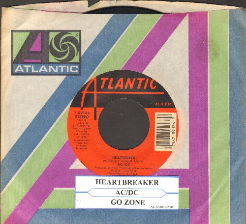 AC/DC - Heartbreaker/Go Zone (with juke box label and Atlantic company sleeve) - EX8/ - 45 rpm Records