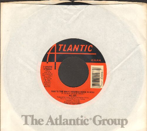 AC/DC - That's The Way I Wanna Rock N Roll/Kissin' Dynamite (with Atlantic company sleeve) - VG7/ - 45 rpm Records
