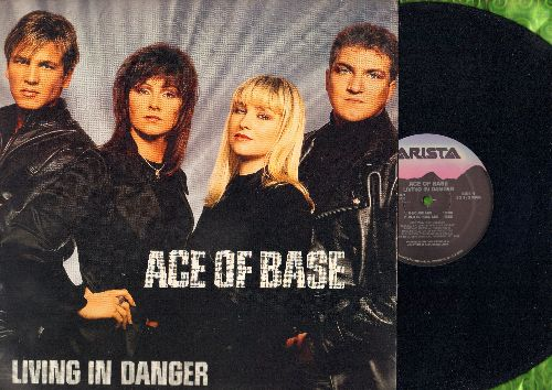 Ace Of Base - Living In Danger (12 inch vinyl Maxi Single with picture cover featuring 4 different Extended Dance Club Mixes of the hit!) - NM9/NM9 - Maxi Singles