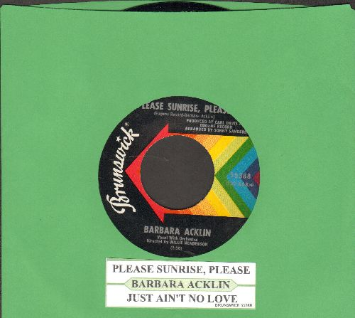 Acklin, Barbara - Just Ain't In Love/Please Surprise, Please (with juke box label) - NM9/ - 45 rpm Records