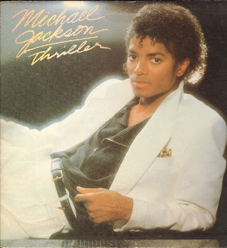 Jackson, Michael - Thriller: Beat It, Human Nature, Billie Jean, P.Y.T., Wanna Be Startin' Somethin', The Girl Is Mine (with Paul McCartney) (vinyl STEREO LP record, gate-fold cover) - EX8/EX8 - LP Records