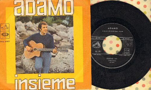 Adamo - Insieme/Inch'Allah (Italian Pressing with picture sleeve) - NM9/VG7 - 45 rpm Records