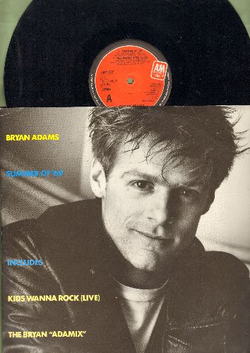 Adams, Bryan - Summer Of '69/Kids Wanna Rock/The Bryan Adamix (12 inch vinyl Maxi Single, British Pressing with picture cover) - EX8/EX8 - Maxi Singles