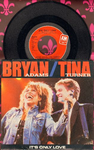 Adams, Bryan - It's Only Love/The Only One (with picture sleeve) - NM9/NM9 - 45 rpm Records