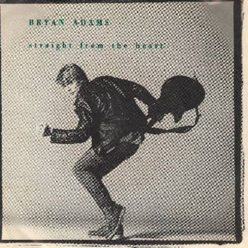 Adams, Bryan - Straight From The Heart/One Good Reason (with picture sleeve) - NM9/EX8 - 45 rpm Records