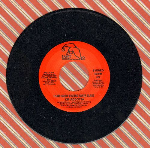 Addotta, Kip - I Saw Daddy Kissing Santa Claus (double-A-sided DJ advance pressing) - NM9/ - 45 rpm Records