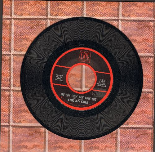Ad Libs - The Boy From New York City/New York's A Lonely Town (by The Trade Winds on flip-side) (re-issue) - EX8/ - 45 rpm Records