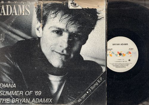 Adams, Bryan - Diana (3:53)/Summer Of '69 (3:35)/The Bryan Adamix (5:52) (12 inch vinyl Maxi Single with picture cover) - EX8/G5 - Maxi Singles