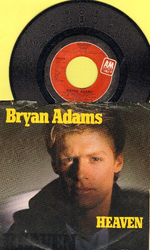 Adams, Bryan - Heaven/Heaven (Live) (with picture sleeve and juke box label) - NM9/EX8 - 45 rpm Records