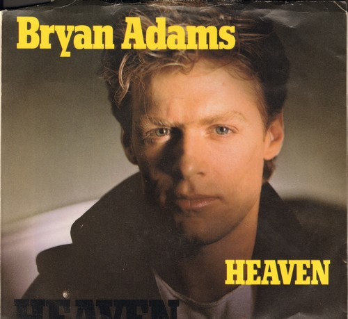 Adams, Bryan - Heaven/Heaven (Live) (with picture sleeve) - NM9/EX8 - 45 rpm Records