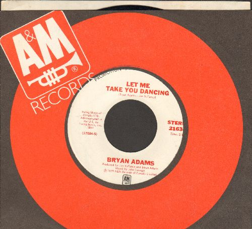 Adams, Bryan - Let Me Take You Dancing (double-A-sided DJ advance pressing with MONO and STEREO version, with A&M company sleeve) - NM9/ - 45 rpm Records