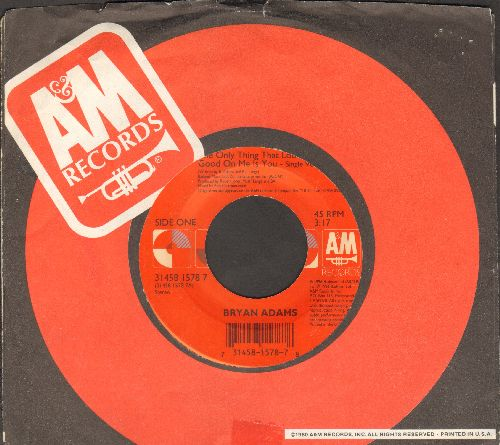 Adams, Bryan - The Only Thing That Looks Good On Me Is You/Hey Elvis (with A&M company sleeve) - EX8/ - 45 rpm Records