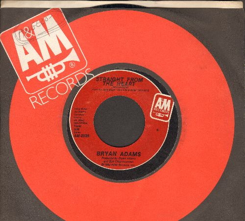 Adams, Bryan - Straight From The Heart/One Good Reason  - EX8/ - 45 rpm Records