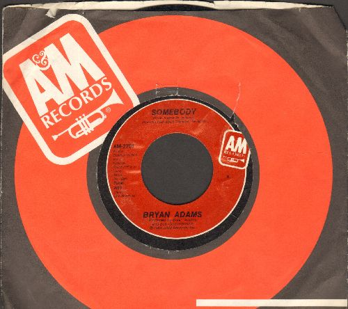 Adams, Bryan - Somebody/Long Gone (with company sleeve) - EX8/ - 45 rpm Records