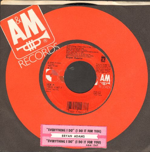 Adams, Bryan - (Everything I Do) I Do It For You (from film Robin Hood Prince Of Thieves) (with A&M company sleeve and juke box label) - NM9/ - 45 rpm Records